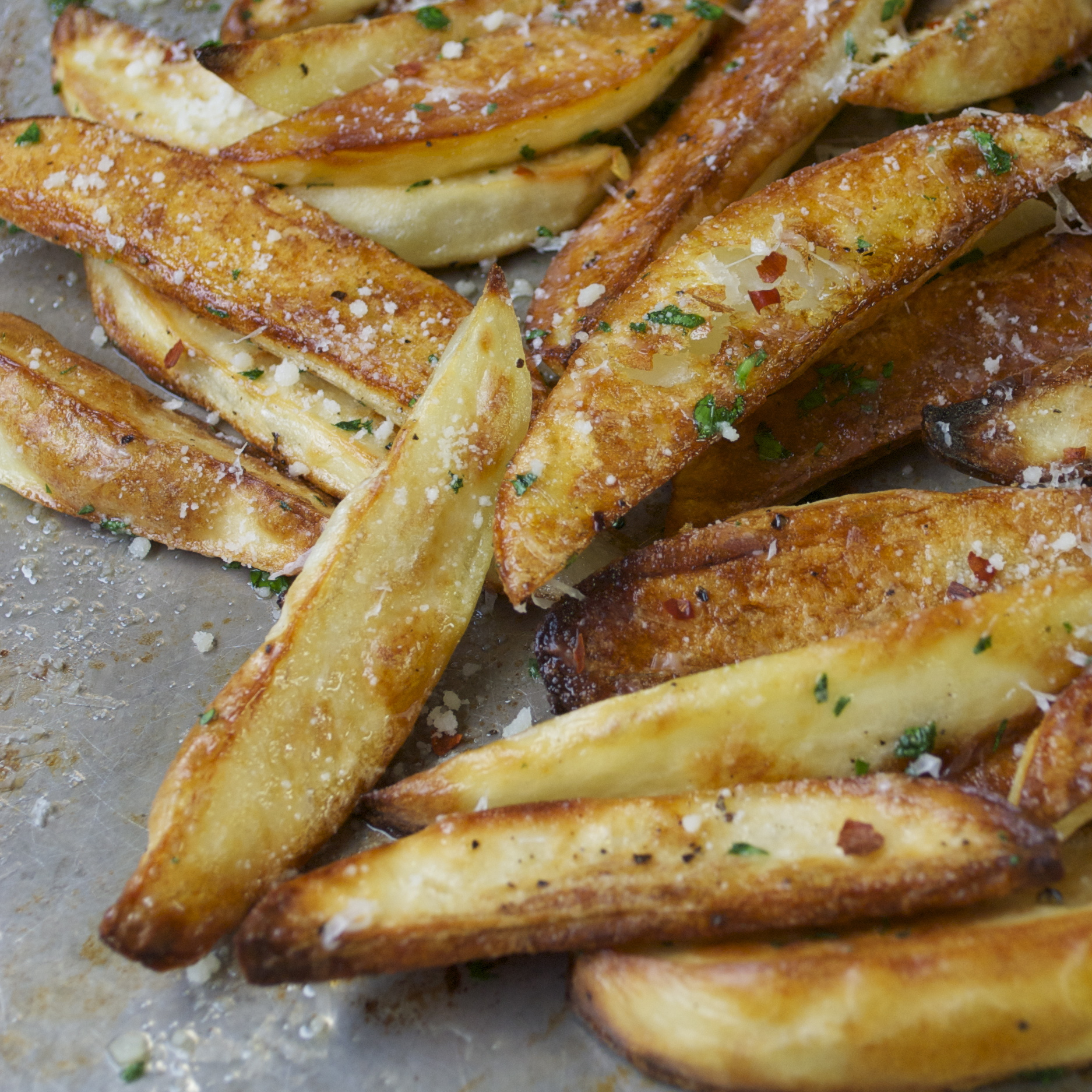 You're In A No-Fry Zone…Oven-Baked, Parmesan Fries