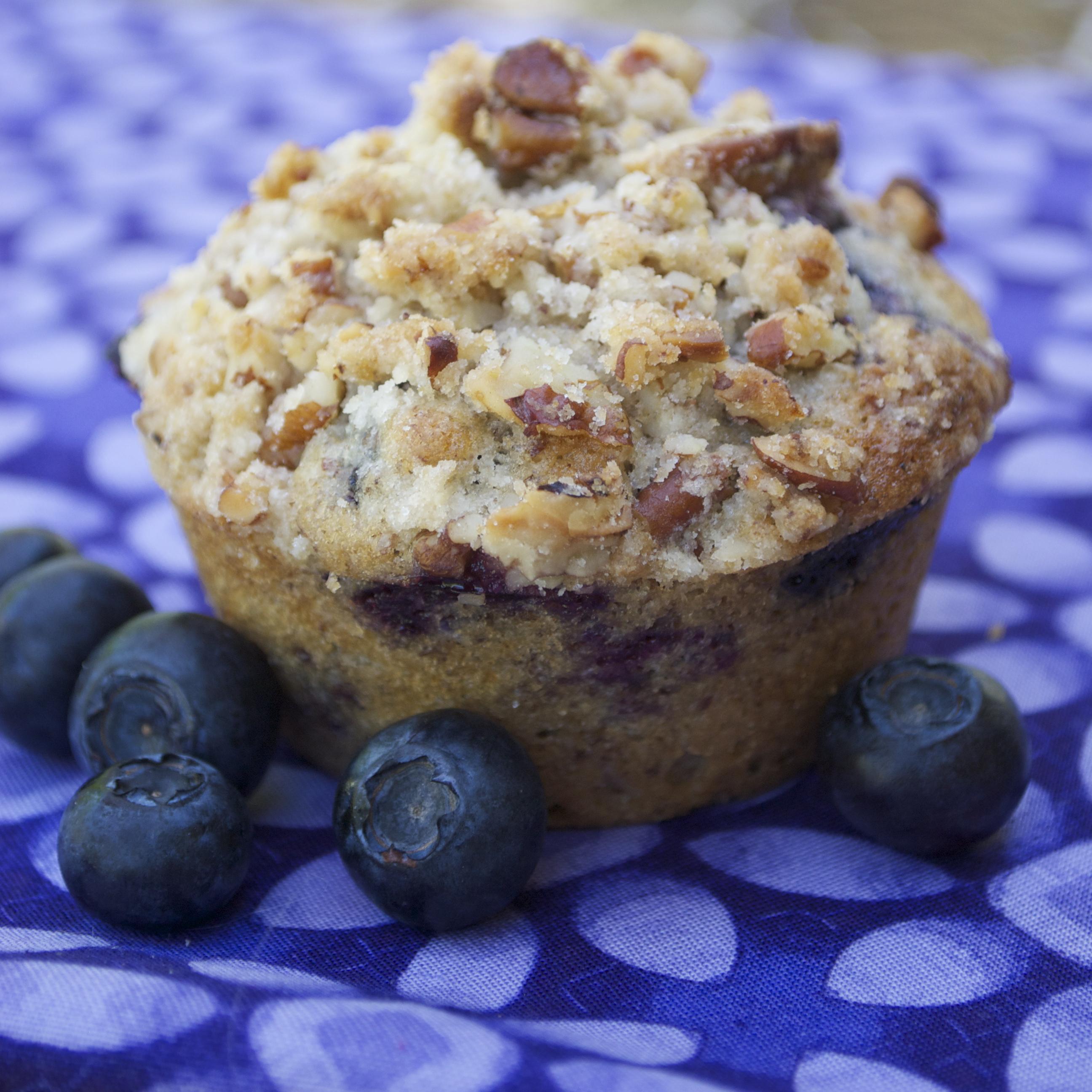 Blueberry Streusel Muffins - Mama's Gotta Bake