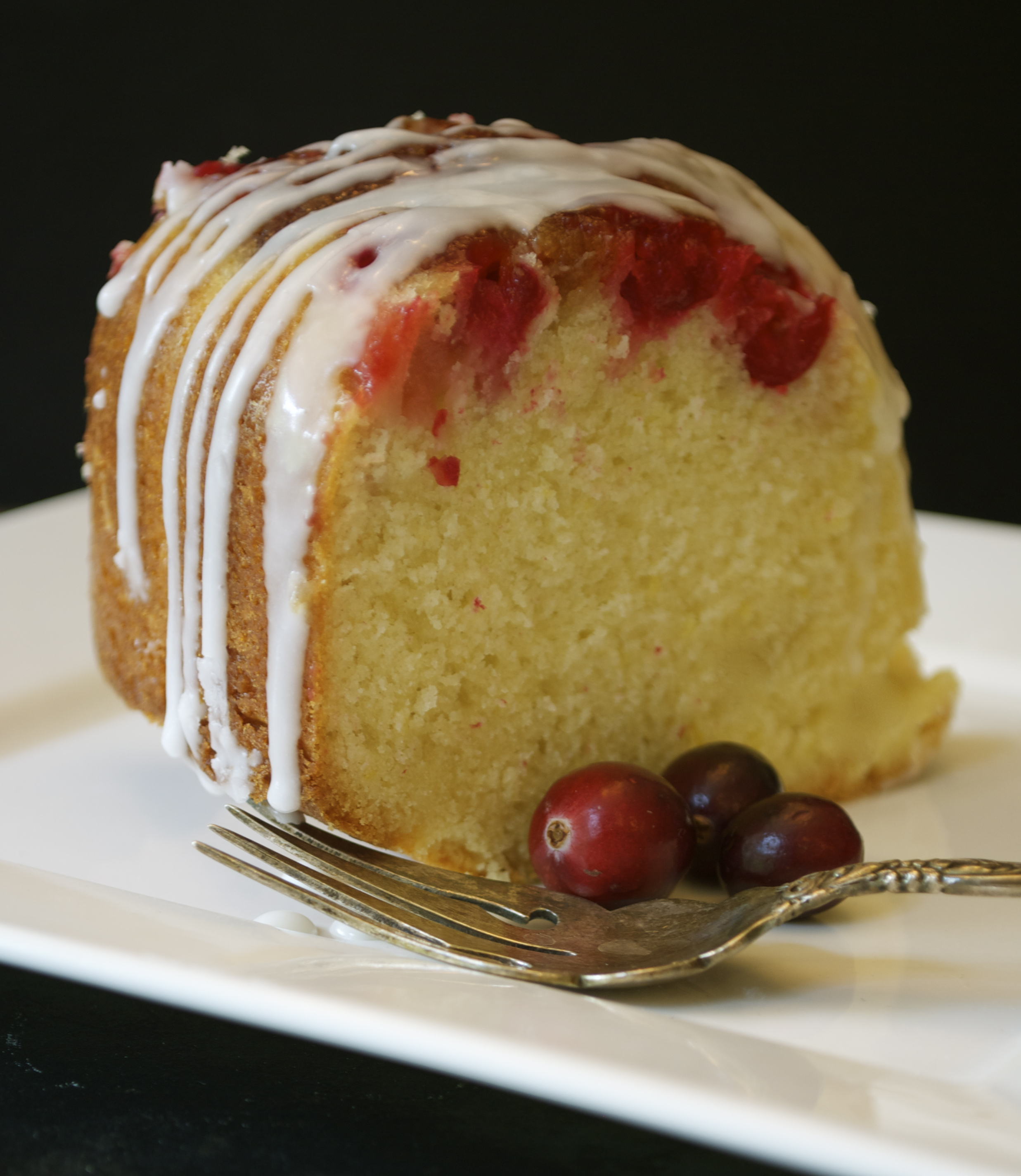 Glazed Cranberry-Lemon Cake Recipe — Dishmaps