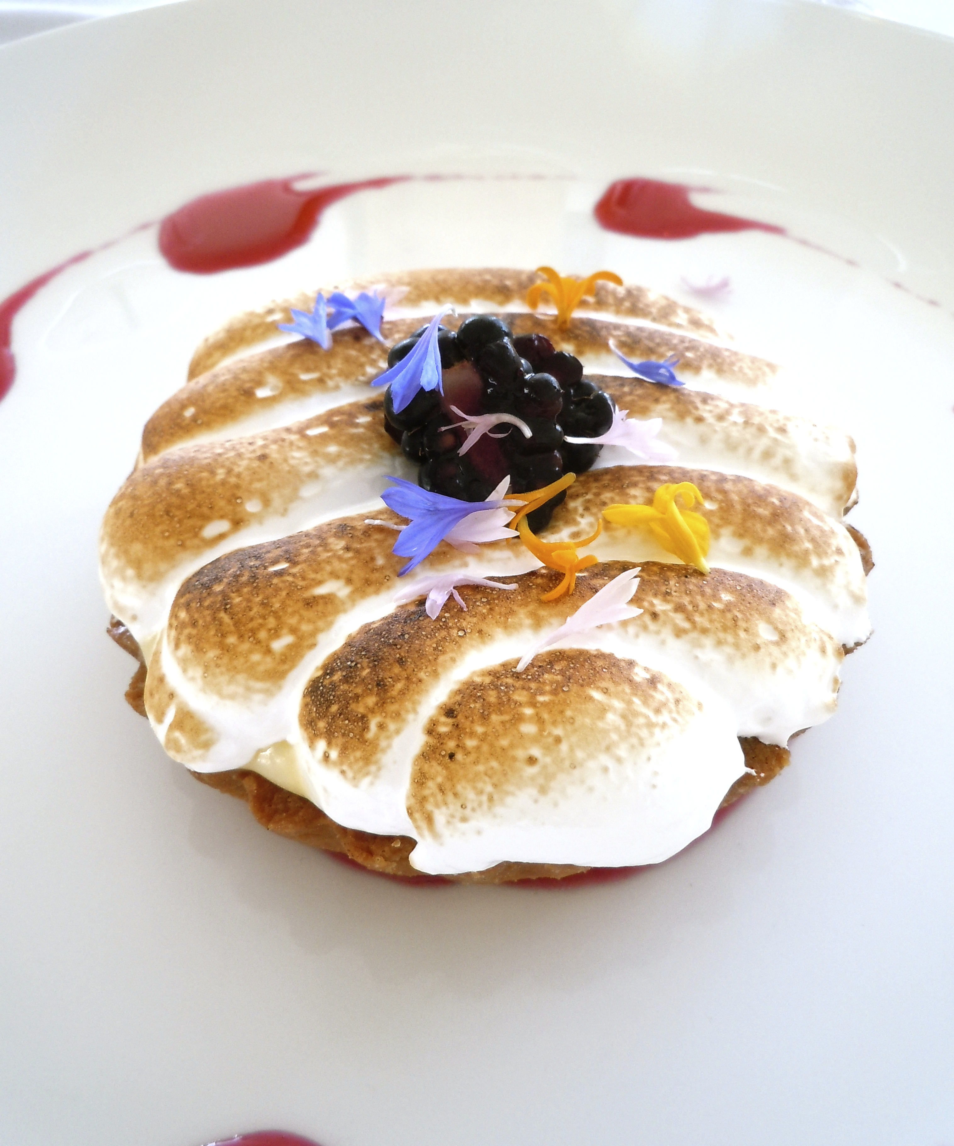 Citrus Tart with Edible Flowers