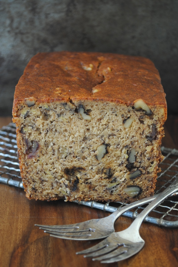 Banana Date-Walnut Bread