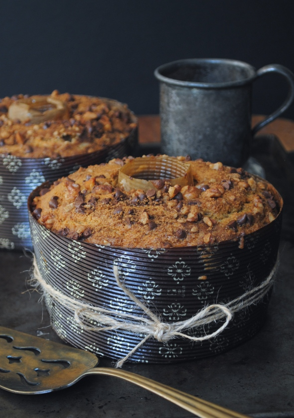 Pumpkin Streusel Cake with Chocolate Glaze