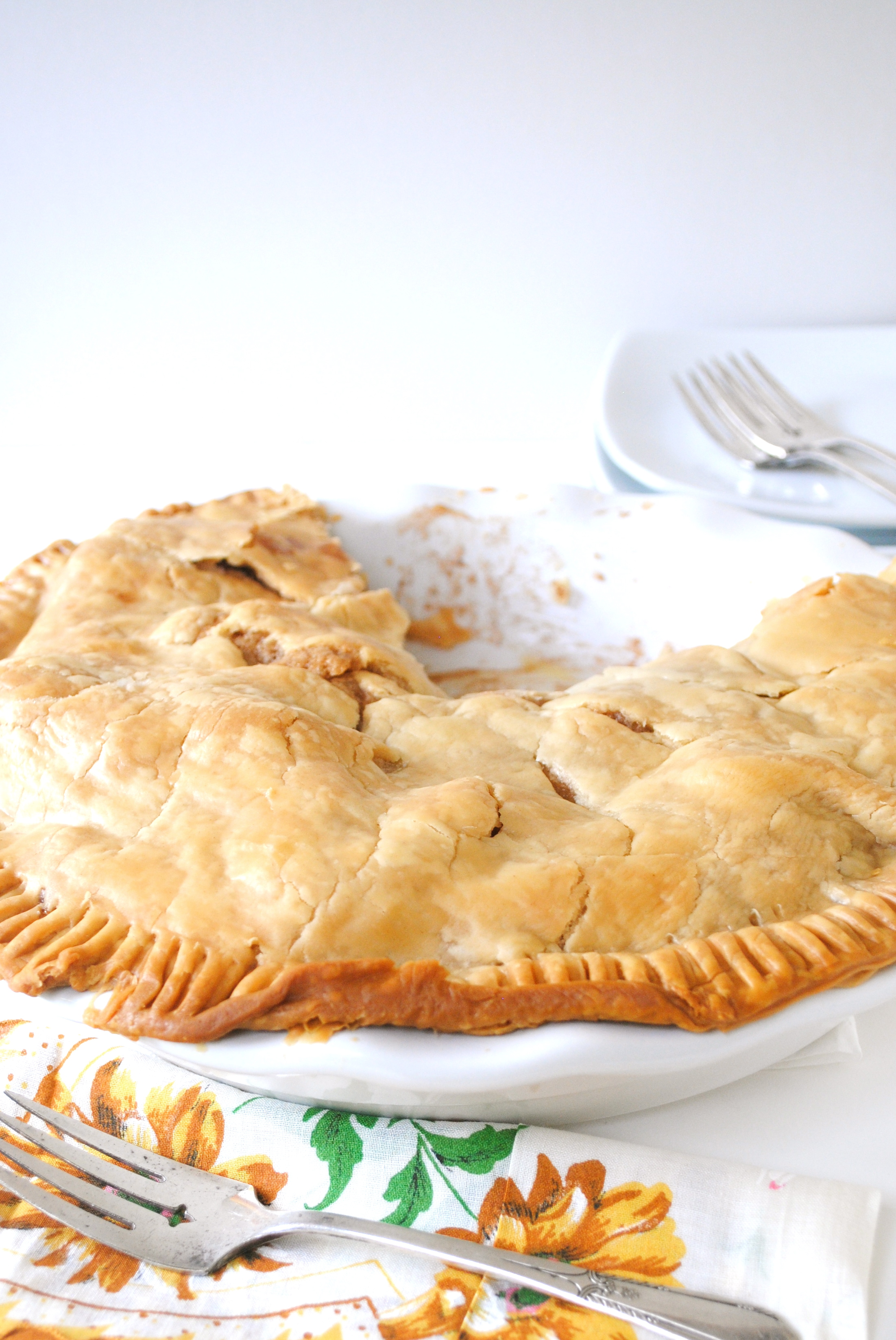 Apple Pie baked in a bag