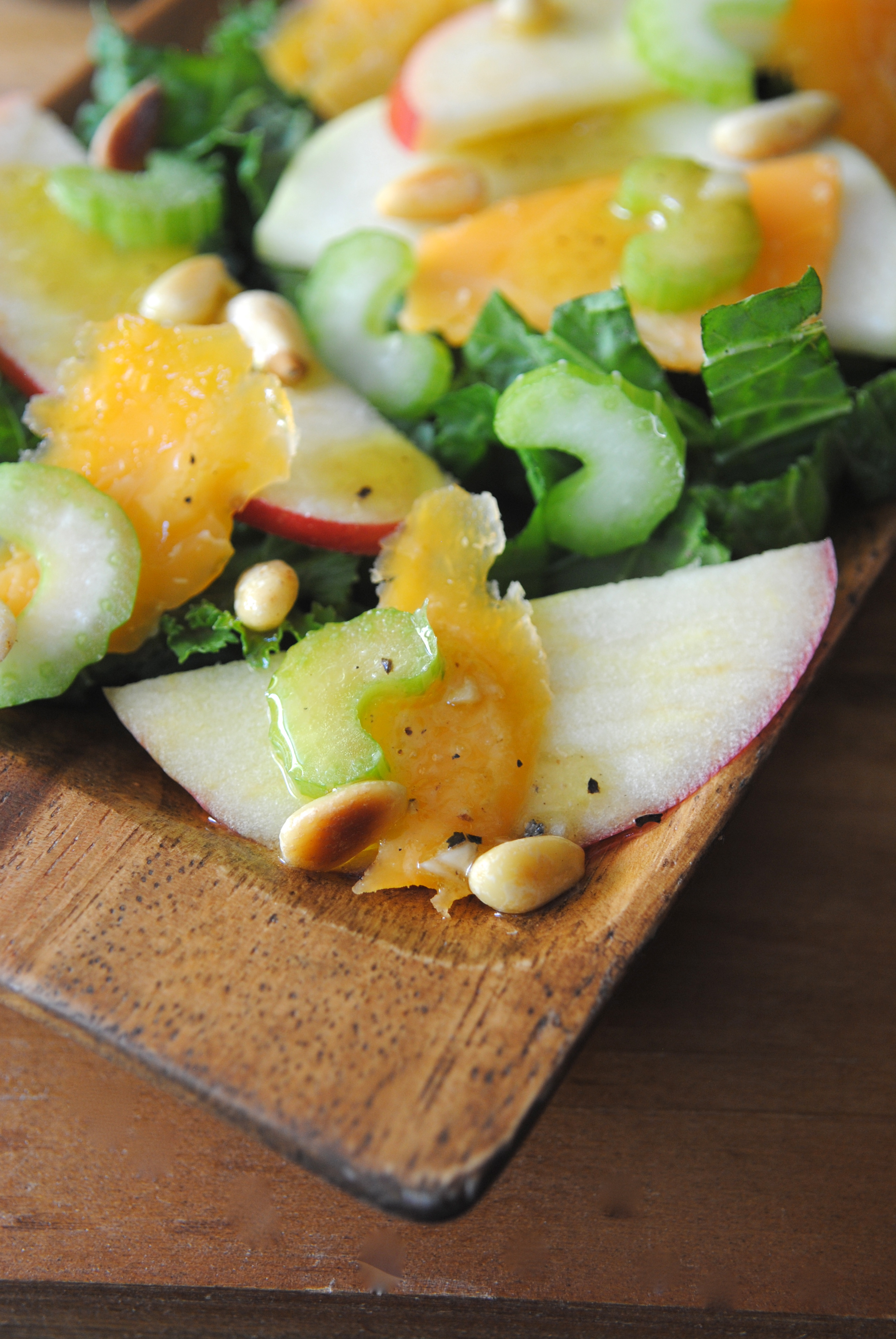 Apple & Cheddar Salad with Mustard Vinaigrette
