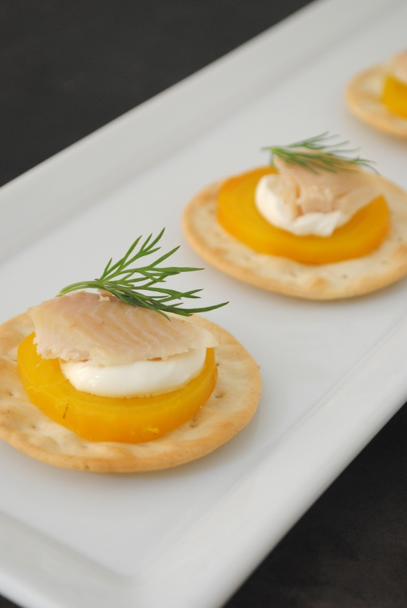 Golden Beets with Smoked Trout & Dill