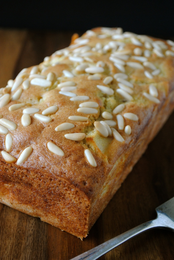 Apple Loaf Cake with Pinenuts